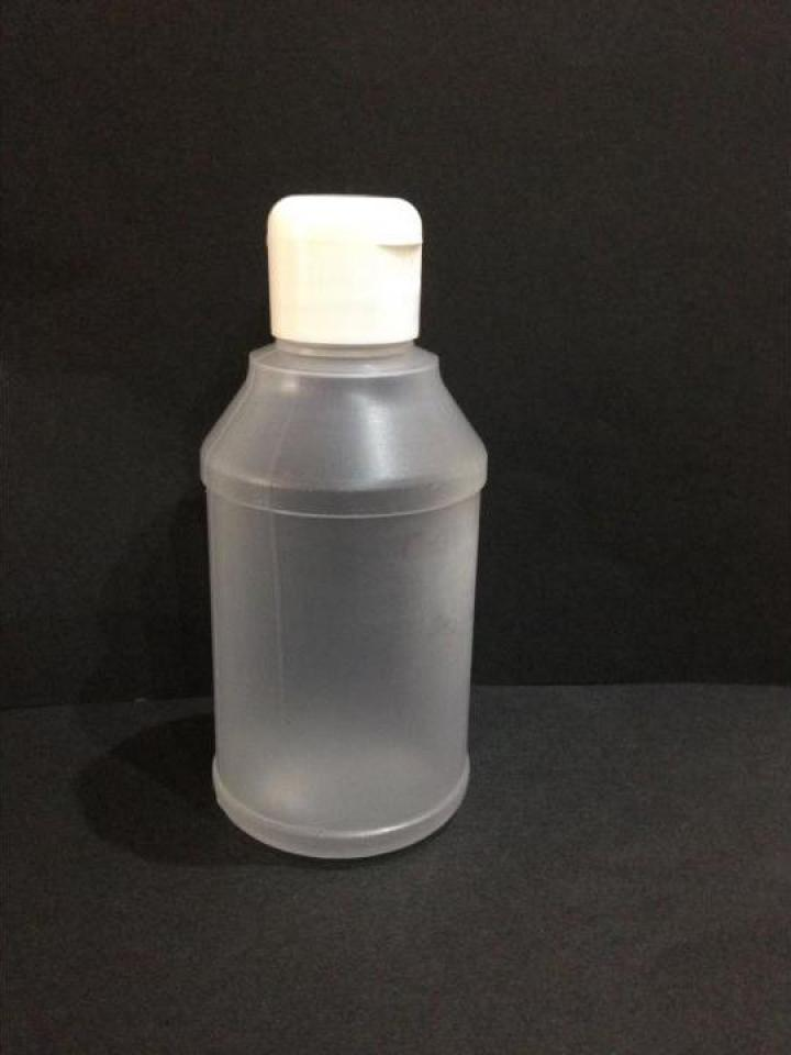 Flacon plastic transparent/alb 270 ml cu dop flip top