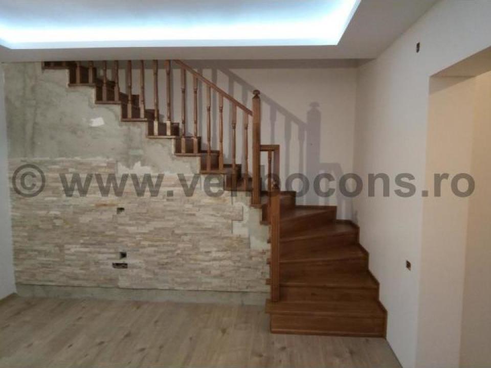 Placare trepte beton cu lemn de stejar