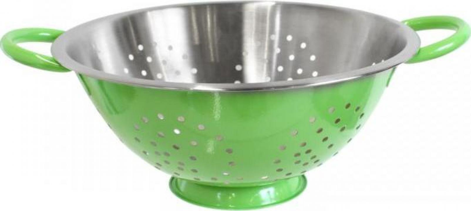 Strecuratoare colorata inox 24 cm, verde