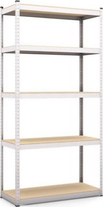 Rafturi metalice, 5 polite MDF, 180x90x50 cm, 200 kg/polita
