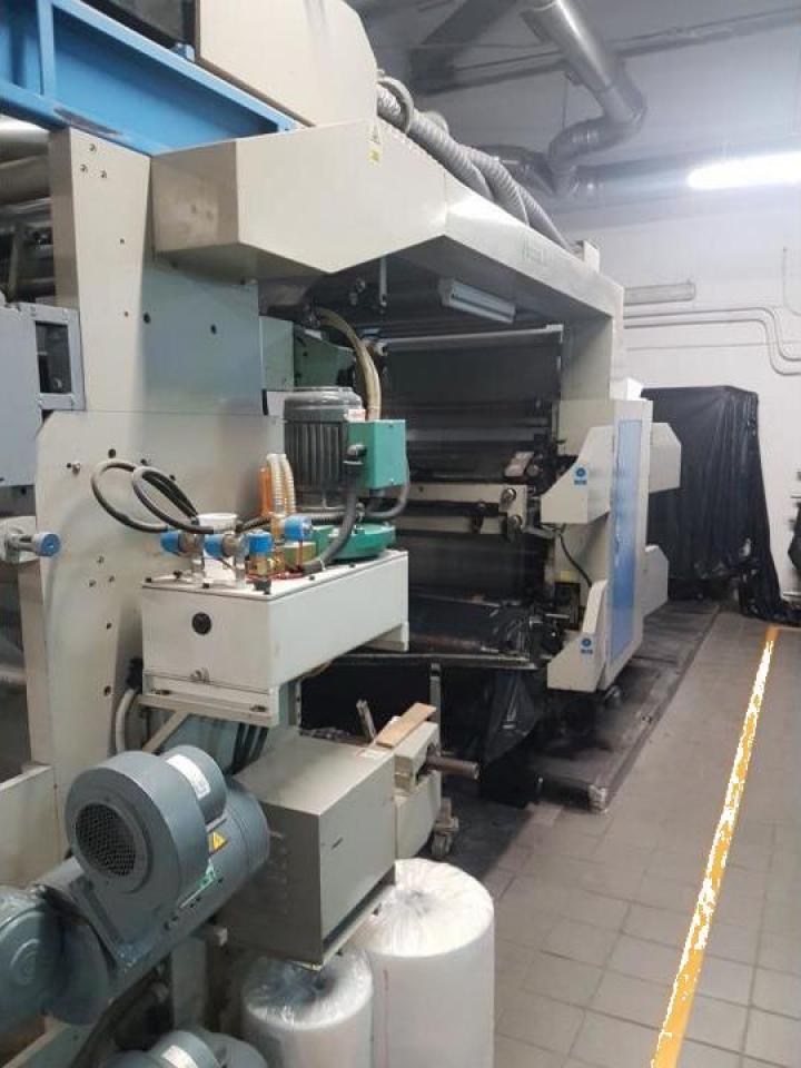 Masina de imprimat flexo, in serie cu 4 culori, QF-4