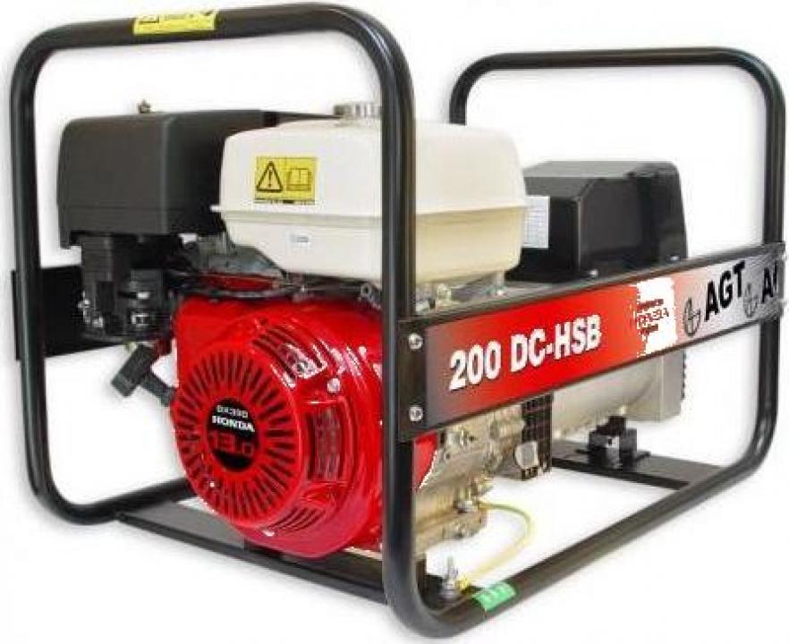 Generator sudura 200 A cu motor Honda WAGT 200 DC HSB