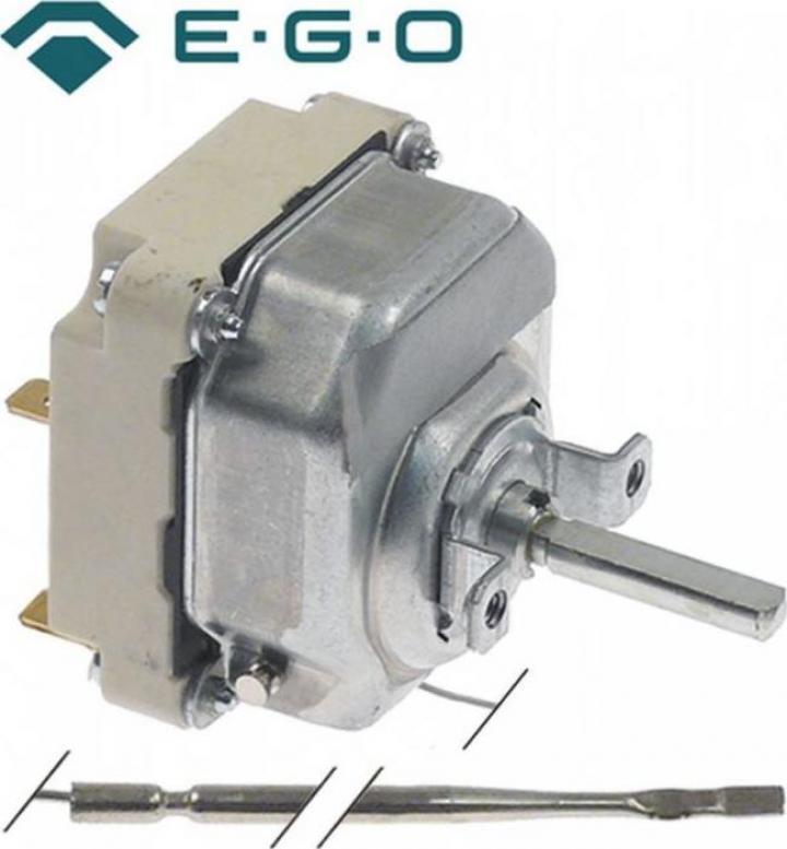 Termostat reglabil 50-300*C, 3 NO, 16 A, bulb 3mm x 219 mm