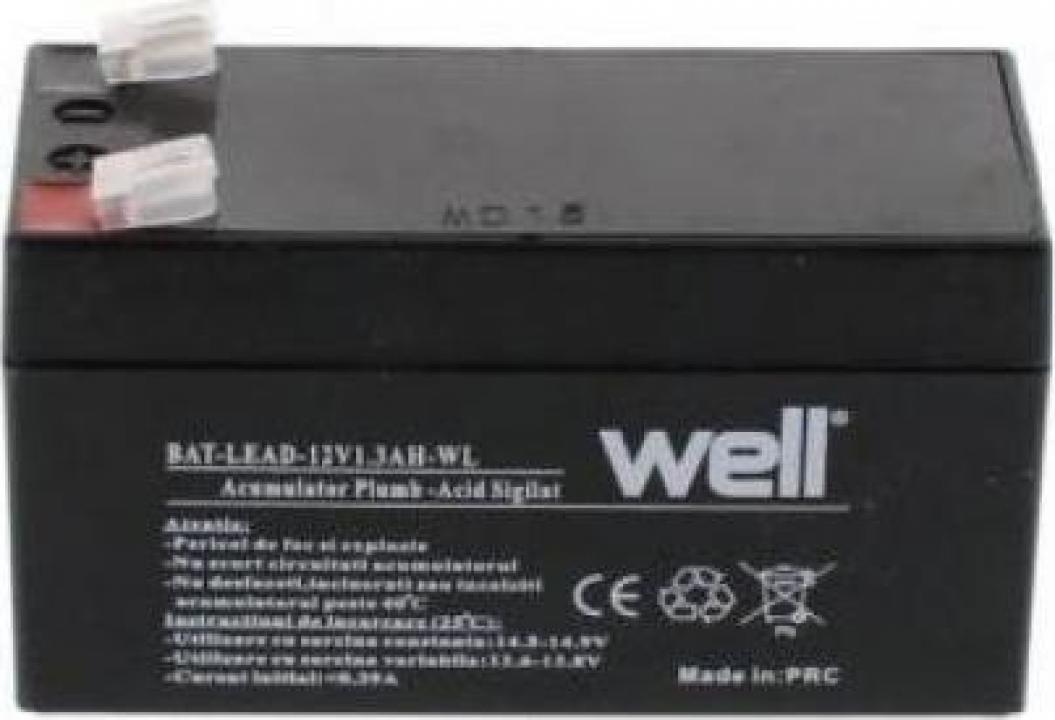 Acumulator plumb acid 12v 1.3Ah WELL
