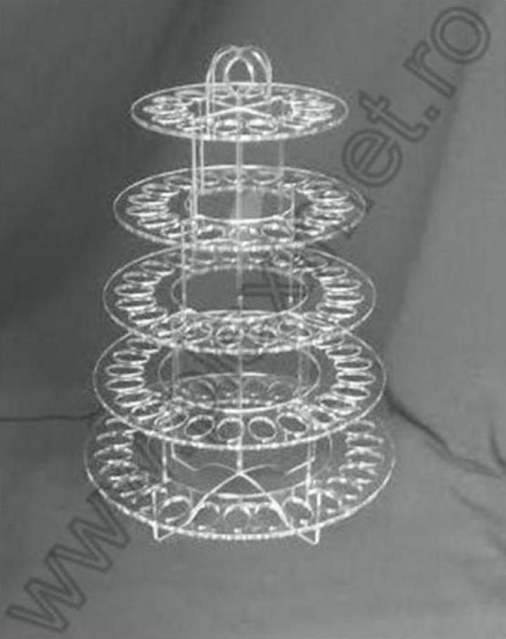 Suport inelar expunere macarons cu 6 etaje SPEv 1.4