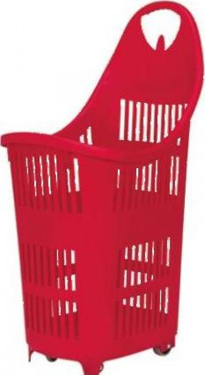 Cos cumparaturi Roller din plastic 70 litri
