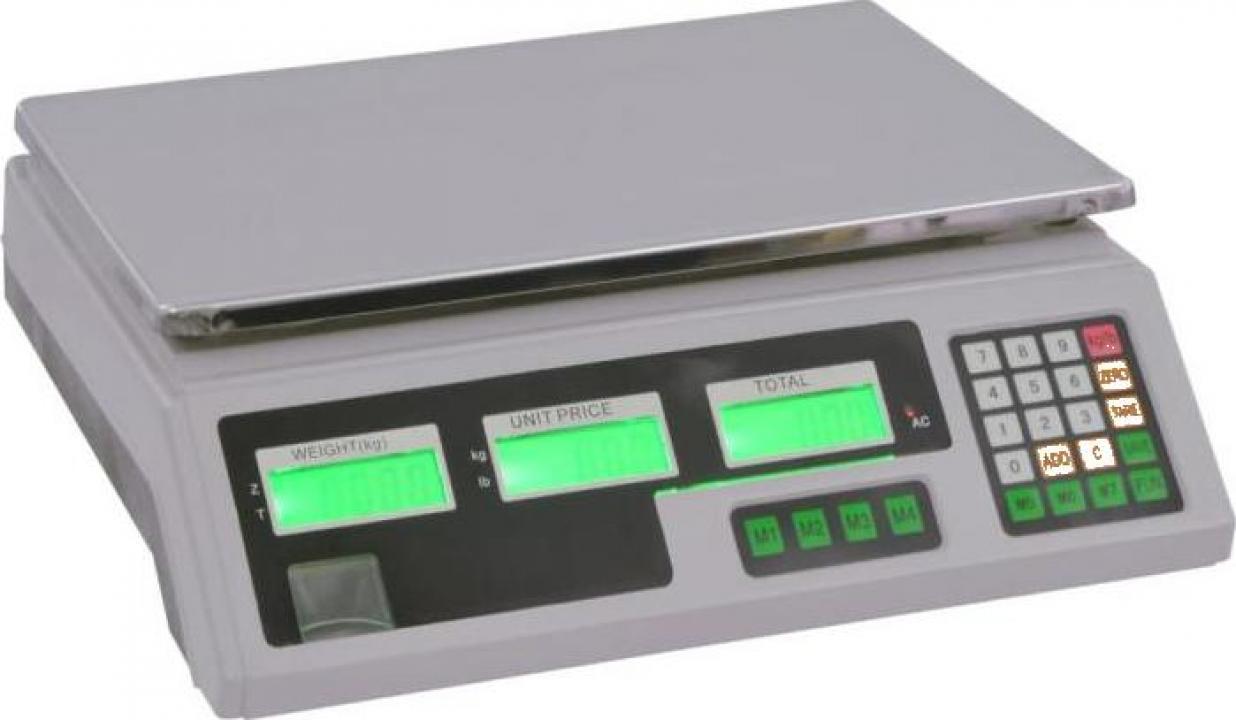 Cantar digital cu baterie reincarcabila, 30 kg