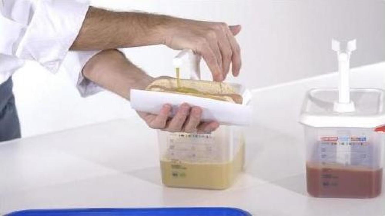Dispenser din polipropilena pentru sosuri 2.6 litri