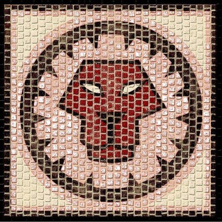 Mozaic decorativ ceramica horoscop Leu Domenech