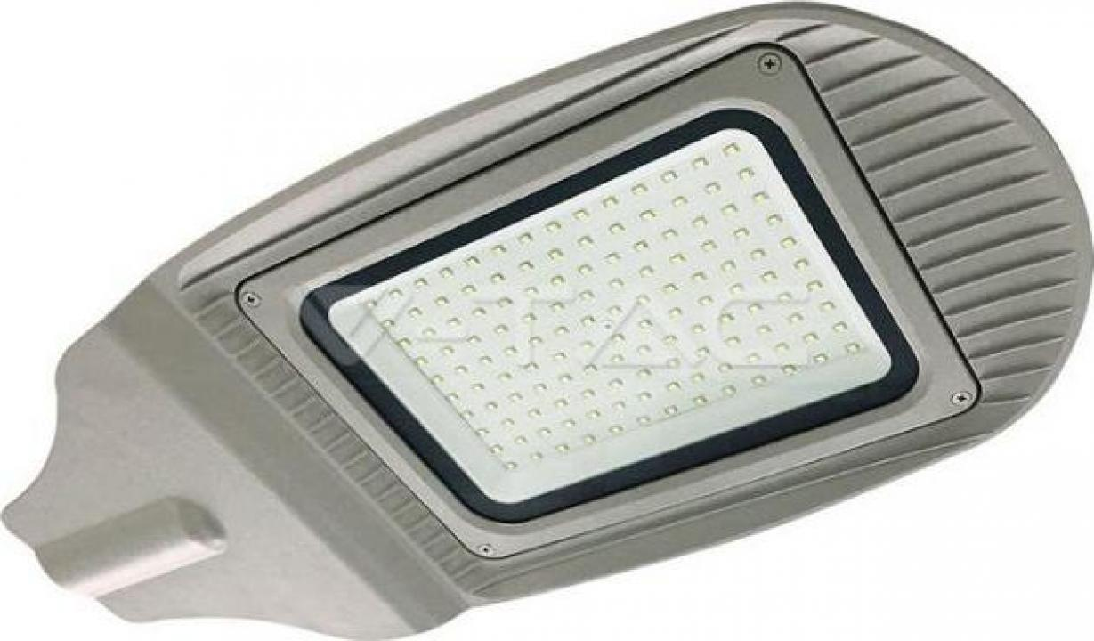 Lampa stradala corp gri alb rece 100W SMD