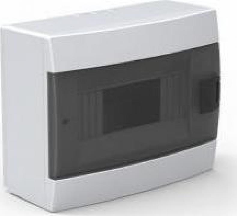 Tablou sigurante 8 module, TEB-8A, alb, aparent
