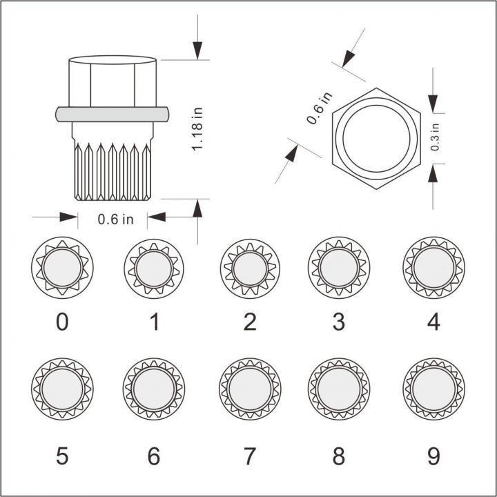 Set 10 chei speciale VW pentru antifurt prezoane roti