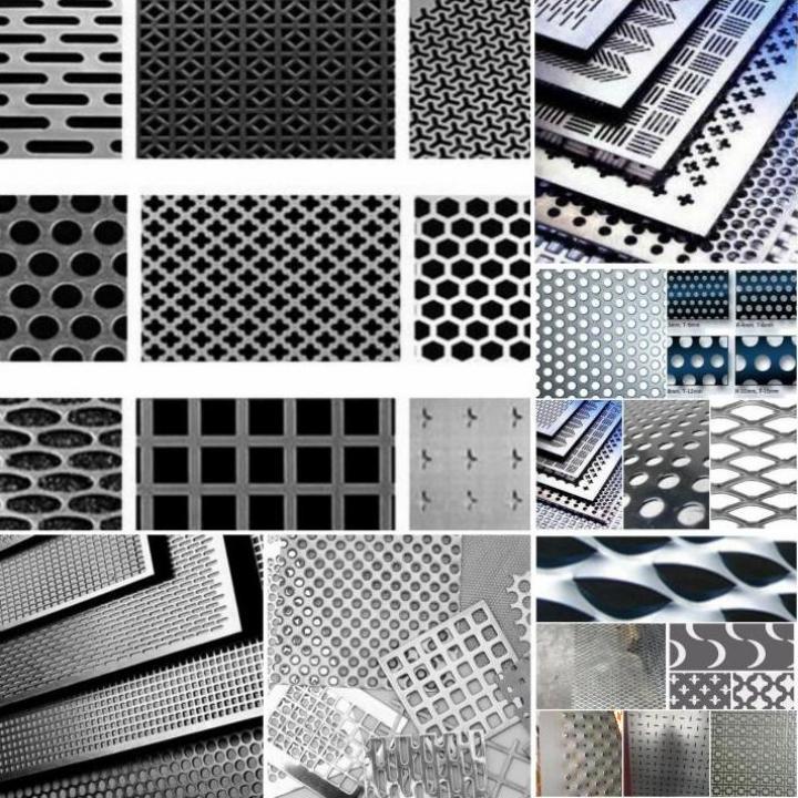 Tabla otel perforata, gaurita, zincata, inox, aluminiu