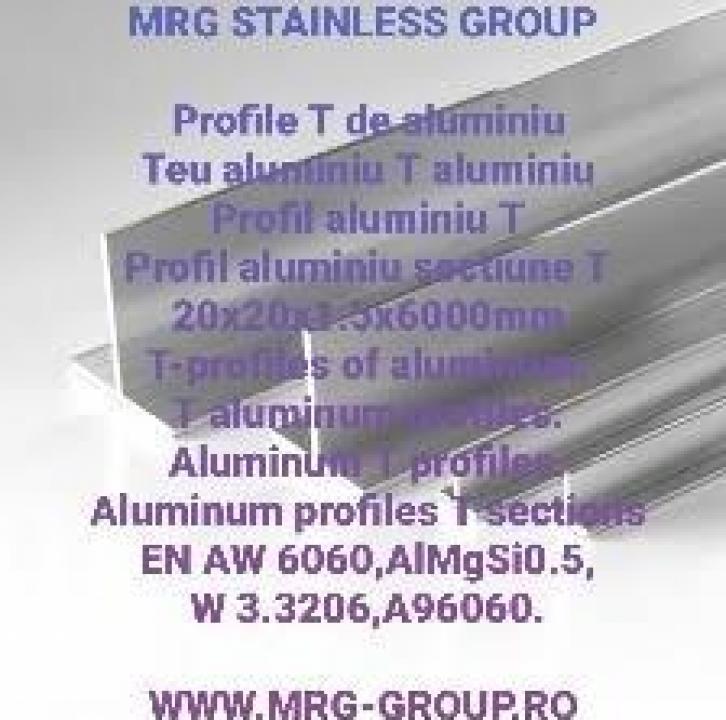 Profil T aluminiu 20x20x1.5mm
