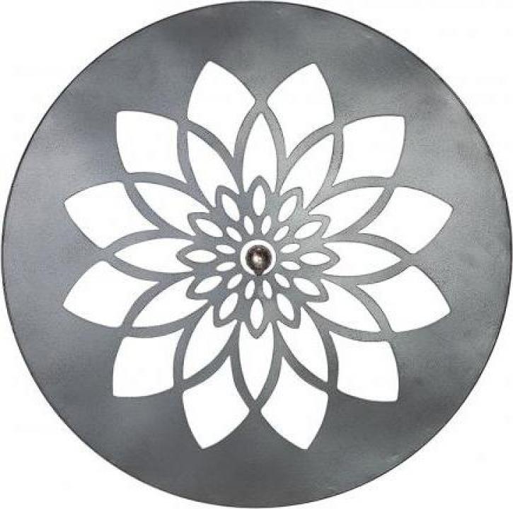 Decoratiune de perete Mandala, metal, 60 x 1 cm