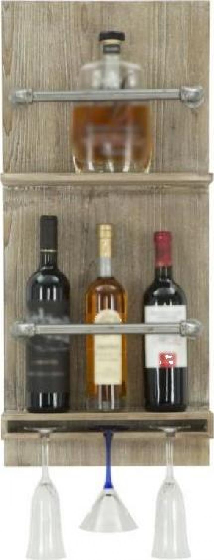 Raft pentru sticle si pahare, 34x12x76 cm, Mauro Ferretti