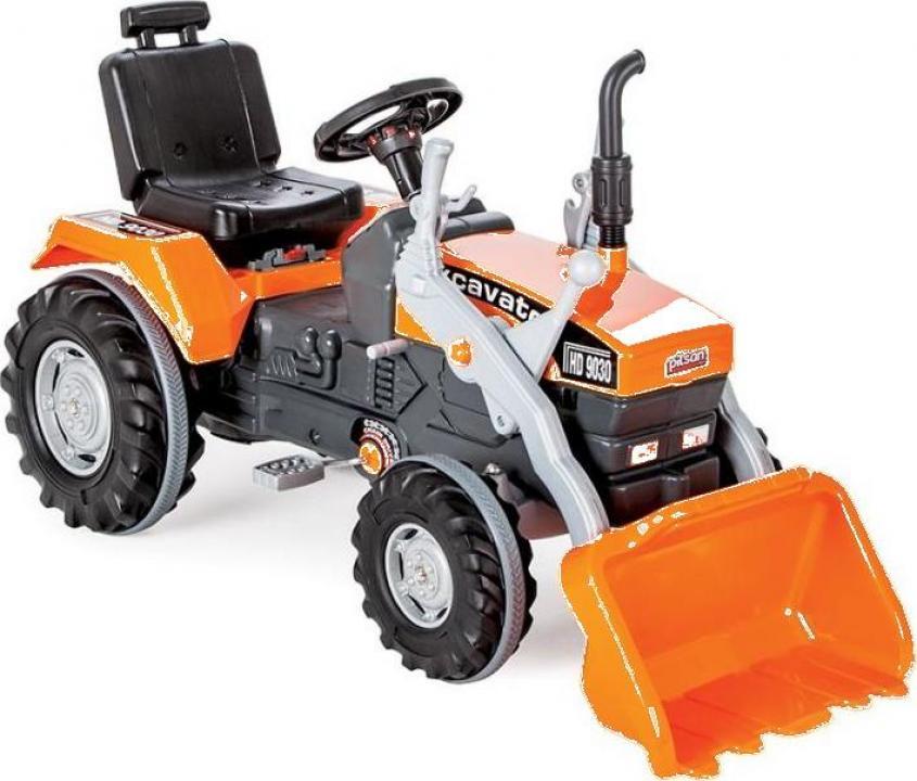 Jucarie Tractor cu pedale si cupa Pilsan Super portocaliu