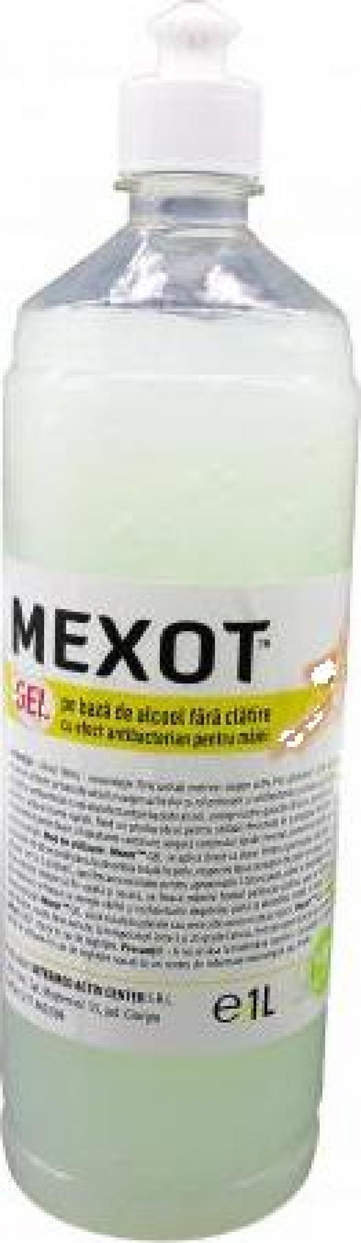 Gel dezinfectant/maini cu alcool Dr. Glomax - Mexot 1Litru