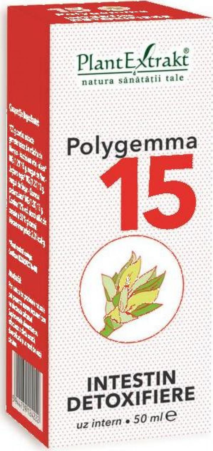 Supliment alimentar detoxifiere intestin Polygemma nr. 15