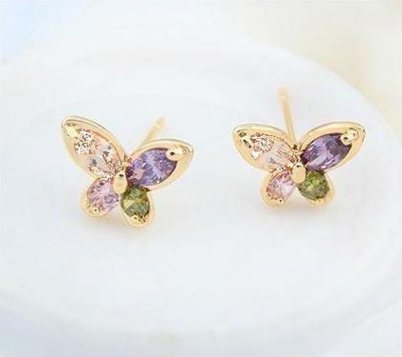 Cercei cu cristale austriece Butterflies