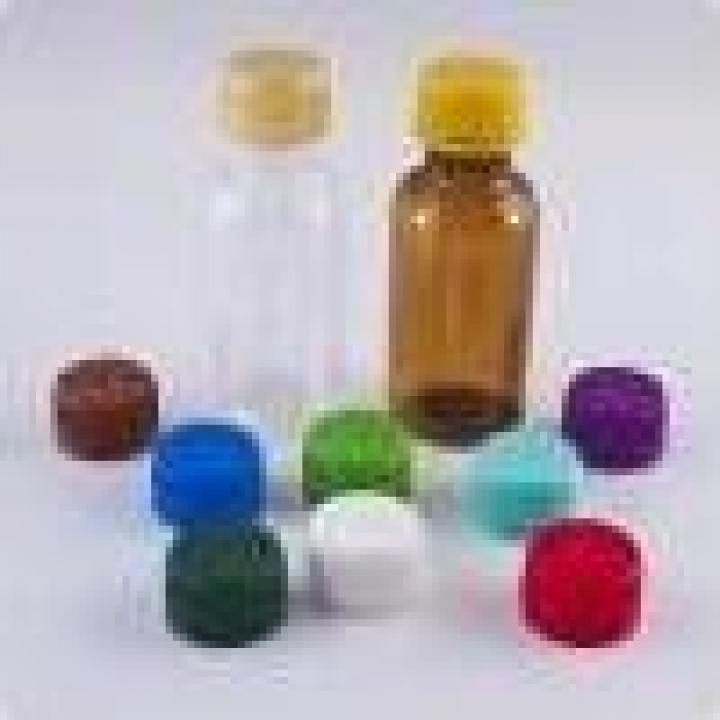Sticle PET 25ml rotunde cu capac (1350buc)