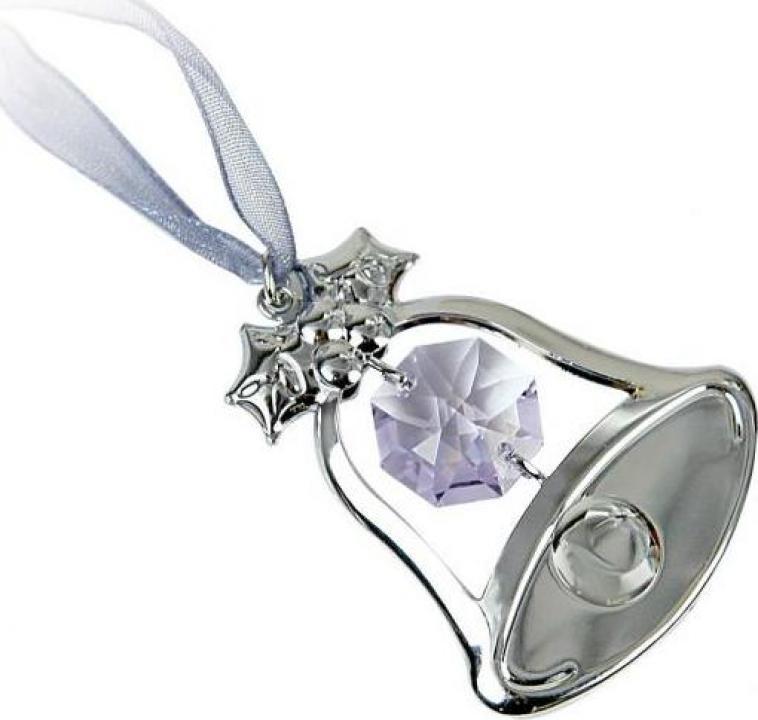 Figurina Clopotel cu cristale Swarovski violet