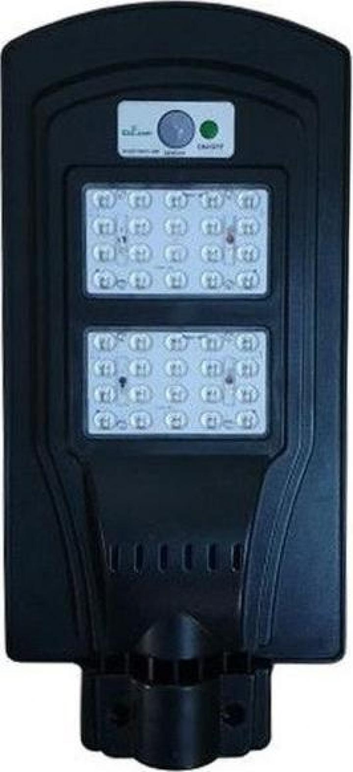 Lampa stradala 40W LED cu senzor de miscare si panou solar