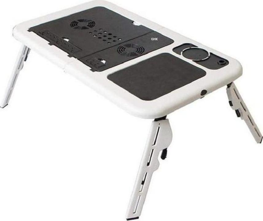 Masuta multifunctionala pentru laptop cu 2 ventilatoare