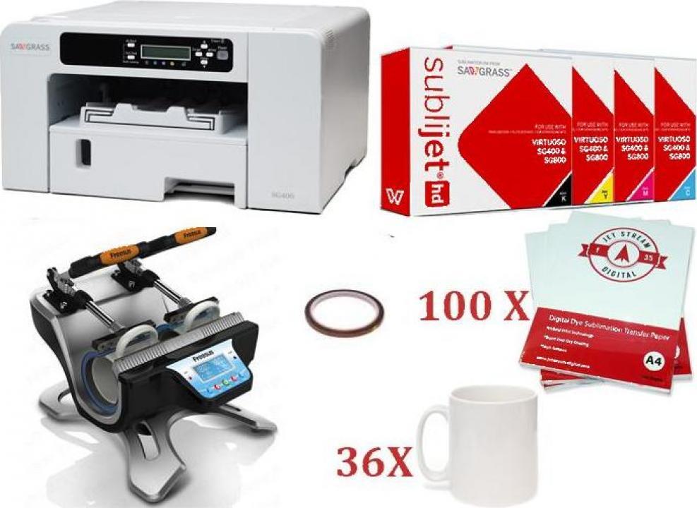 Set presa termica cani + imprimanta Virtuoso SG 400 DIN