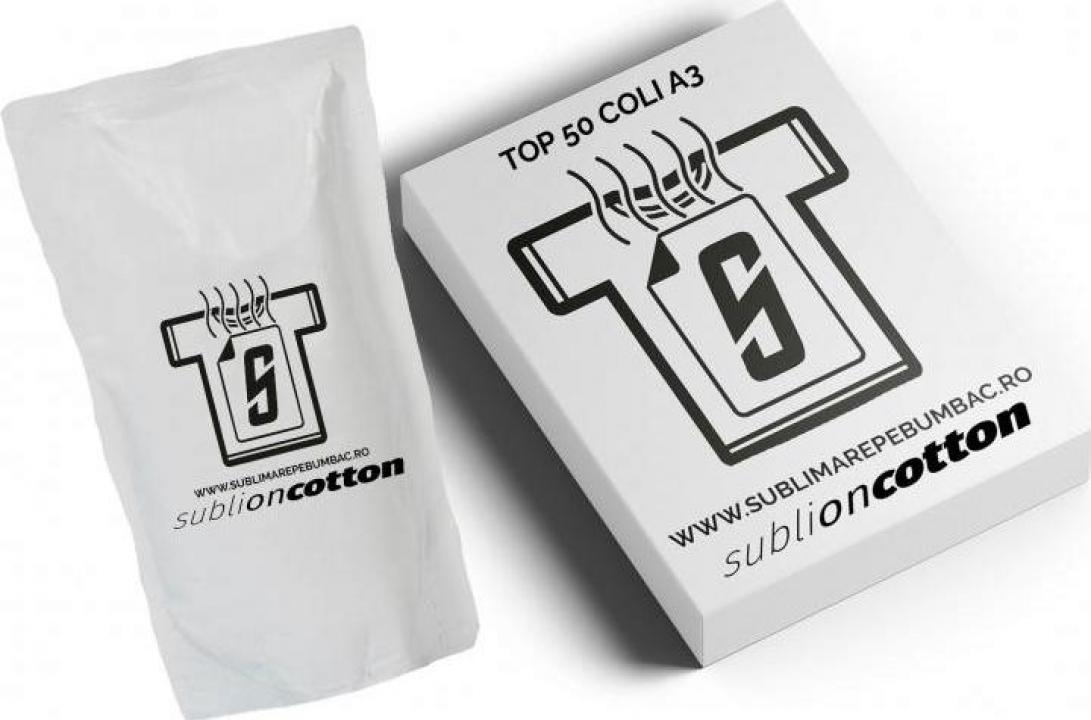 Kit sublimare pe bumbac format A3