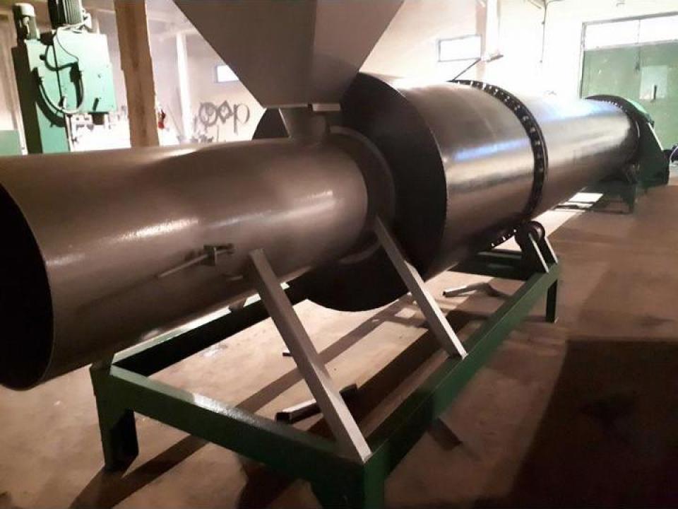 Uscatoare rumegus rotative cu tambur