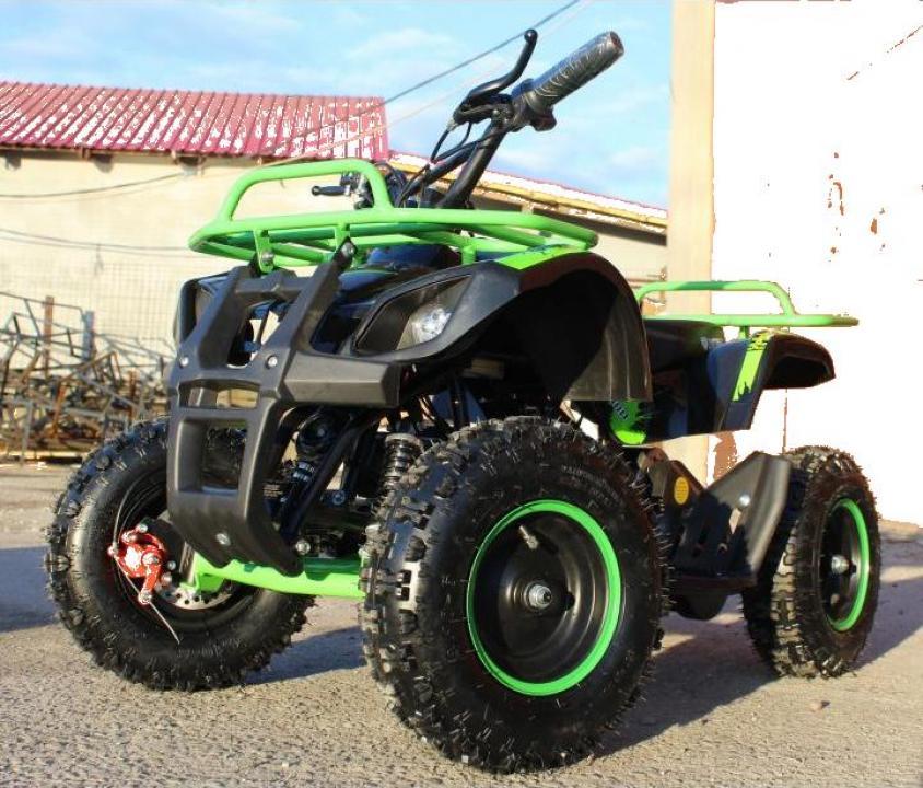 ATV electric pentru copii Eco Torino 800W36V Deluxe, green