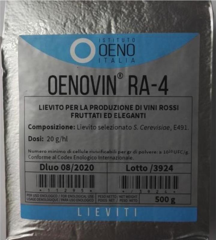 Drojdie pentru vinuri rosii Oenovin RA-4, 0.5 kg