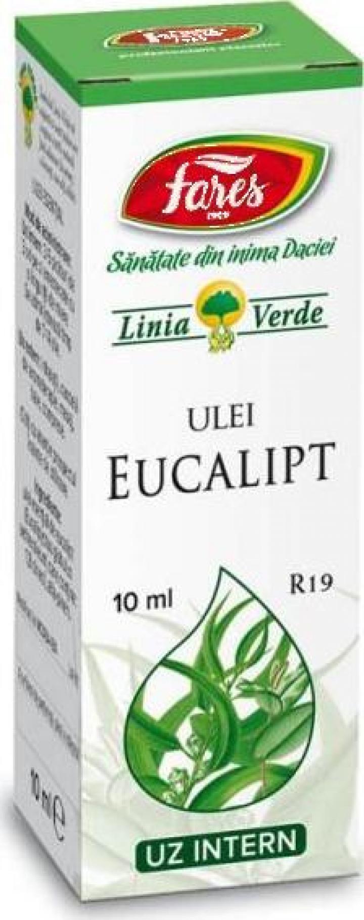 Ulei esential de Eucalipt R19 - 10 ml Fares