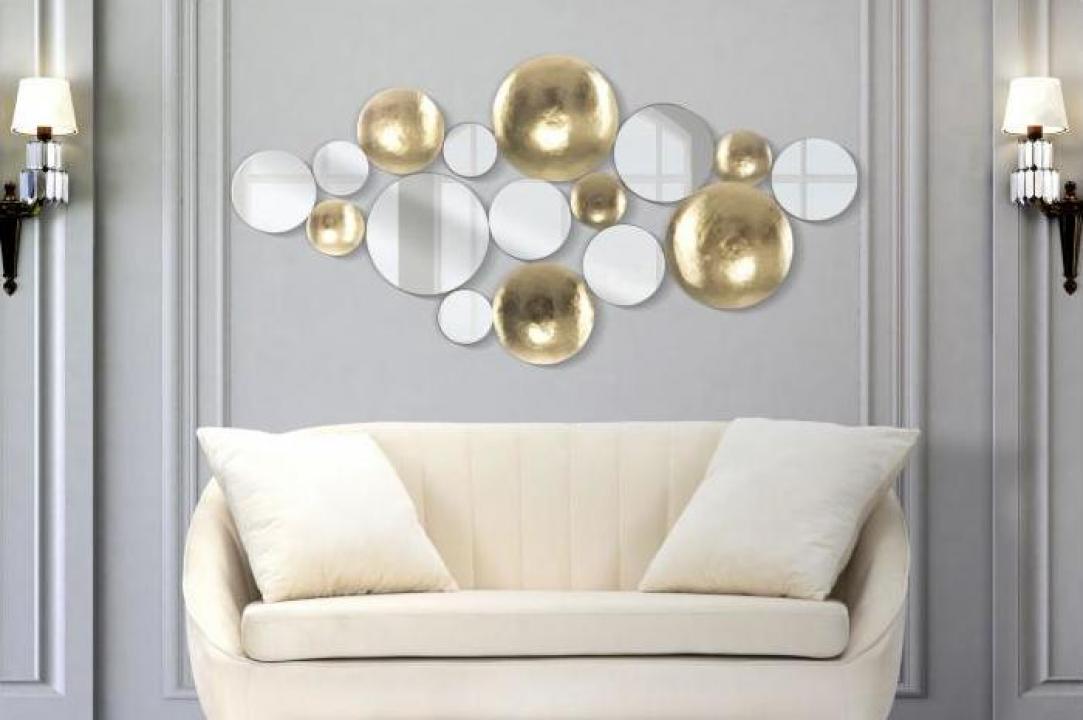 Decoratiune de perete cu oglinda Glam (cm) 118x2,5x6